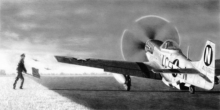 Lt. Ernest Fiebelkorn - P-51D Mustang - June Nite - 20th FG