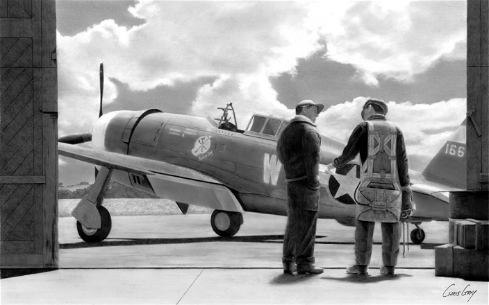 Maj. Eugene Roberts - P-47C Thunderbolt - Spokane Chief - 78th FG