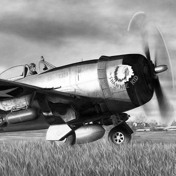 Capt. David Baumeister - P-47D Thunderbolt - The Shawnee Kid III - 9th Air Force - 365th Fighter Group