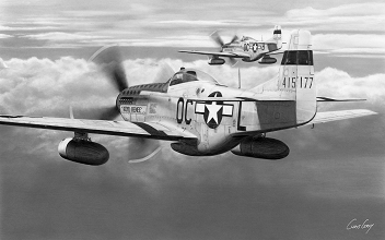 Lt. Glenn Crum - P-51D Mustangs - Capt. Raymond Withers